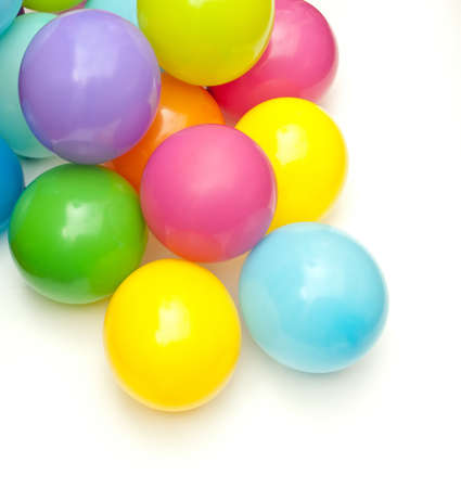 color balloons isolated on white Stock Photo - 9032195