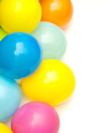 color balloons isolated on white Stock Photo - 9032198