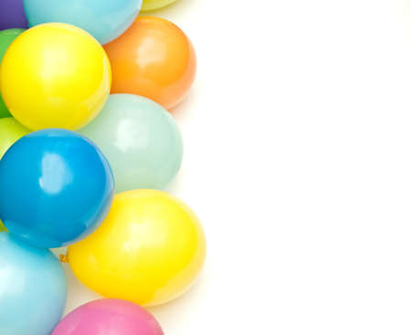 color balloons isolated on white Stock Photo - 9032191