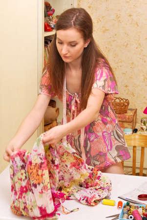 Woman seamstress work  photo