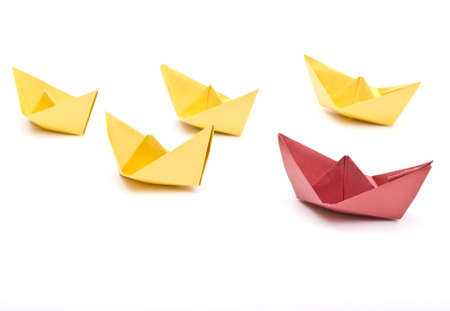 paper ships Stock Photo - 9656209