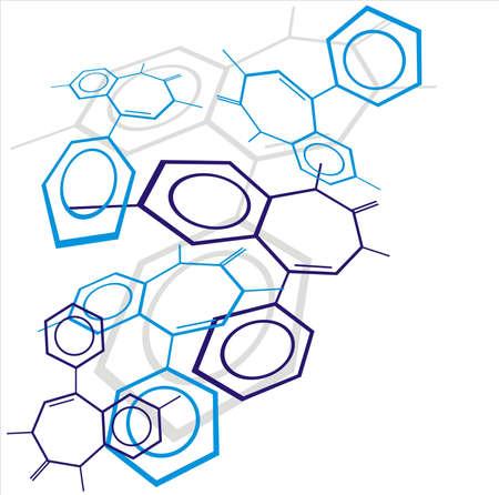 molecule icon: Molecule background Stock Photo