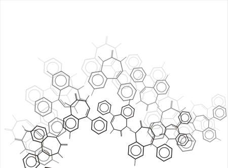 Molecule background Stock Photo