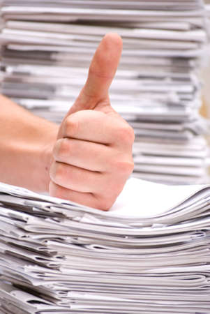 informed: a stack of magazines
