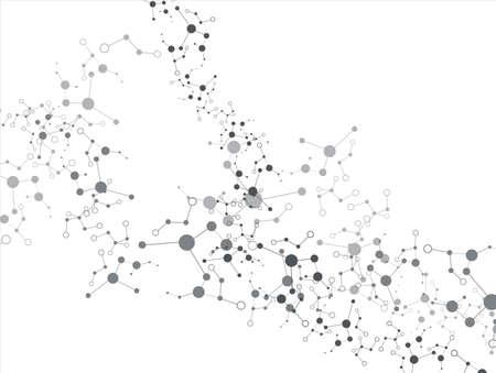 Molecule auf dem weißen Hintergrund