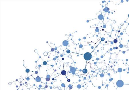 Molekül auf dem weißen Hintergrund Lizenzfreie Bilder