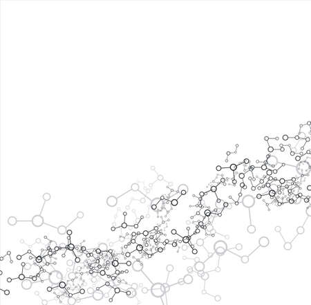 Molecule on the white background