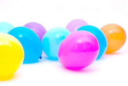Ballons on the white background Stock Photo - 11118792