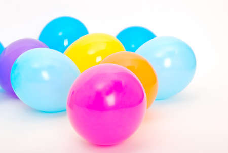 Ballons on the white background Stock Photo - 11118796