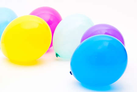 Ballons on the white background photo