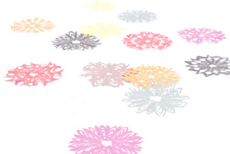 Origami snowflakes on the white background Stock Photo - 11118791