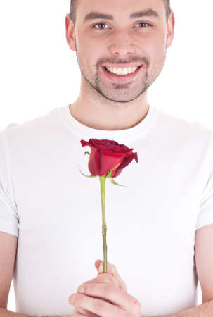 Man with flower Stock Photo - 11357200