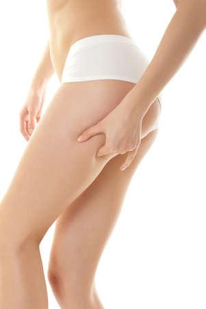 piernas sexys: Preparador f?sico del cuerpo Foto de archivo