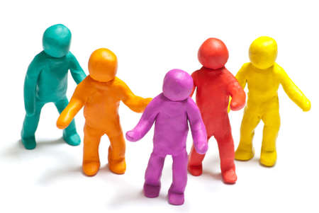 colorful plasticine guys photo