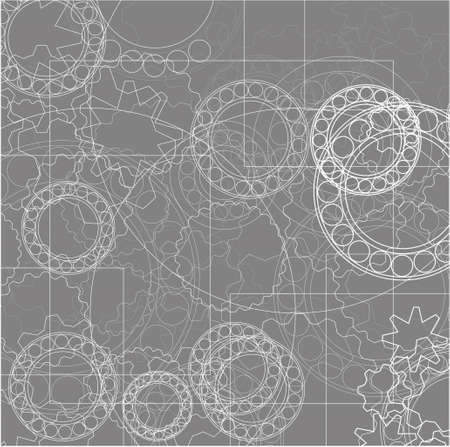 Mechanical abstract background - vector illustration illustration