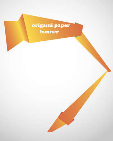 origami paper banner photo