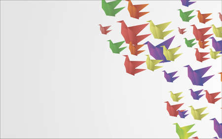 origami birds abstract background photo
