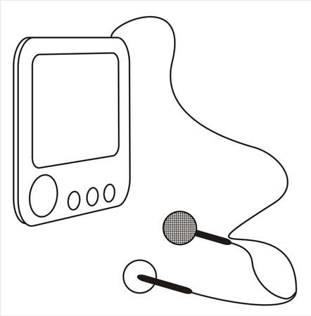 mp3 player with earphones photo