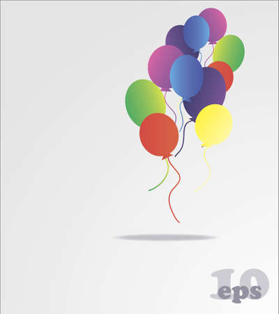 vector of background with multicolored balloons photo