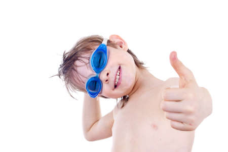 Boy in Swimming Goggles photo
