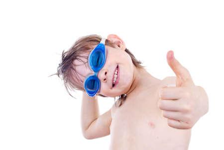 Boy in Swimming Goggles photo