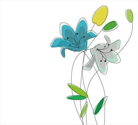 Flower Background Stock Vector - 13197950