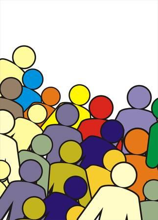 cooperativa: figuras humanas Vectores