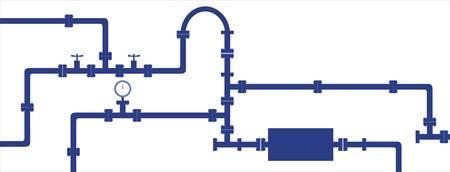 tuberias de agua: Perfecta textura vector - la tuber�a de agua antigua Vectores
