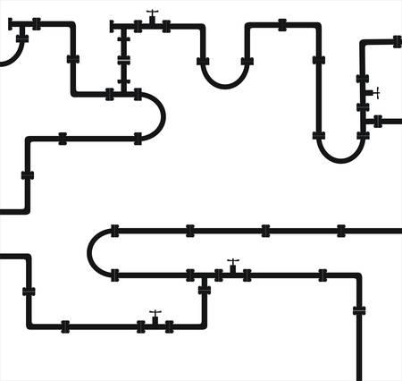 loodgieterswerk: Seamless vector texture - de oude waterleiding