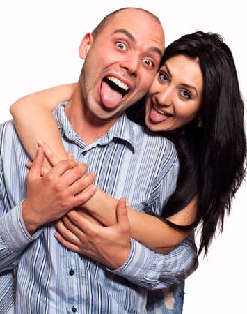Beautiful young couple in casual clothing photo
