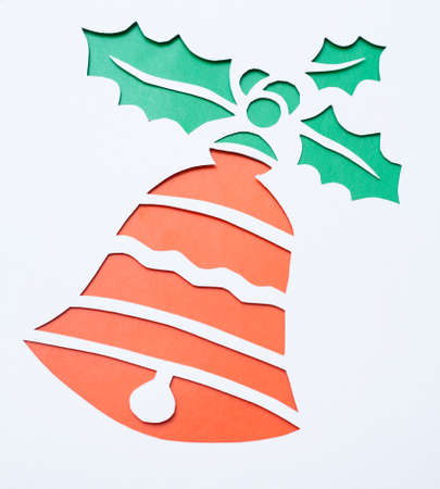 Christmas bell.Origami.Handmade. Stock Photo - 15489456
