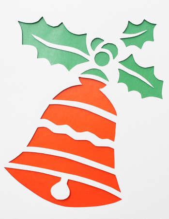 Christmas bell.Origami.Handmade. Stock Photo - 15172665