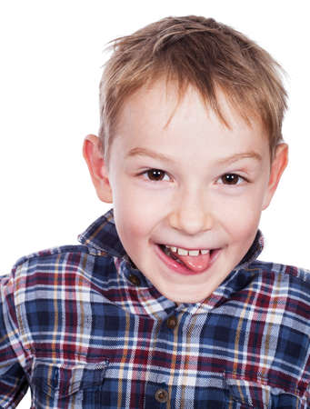 scallywag: Happy young boy with smile