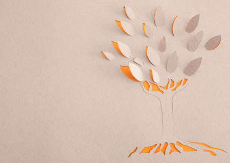 Origami tree Stock Photo - 15365607