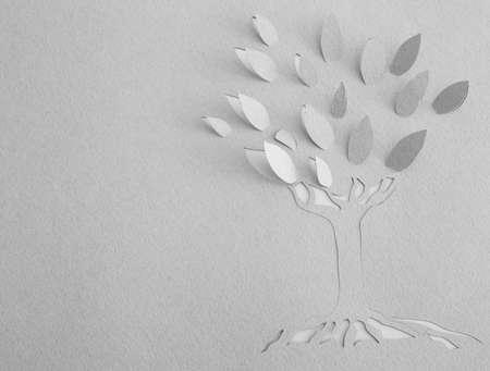 paper origami: Origami tree