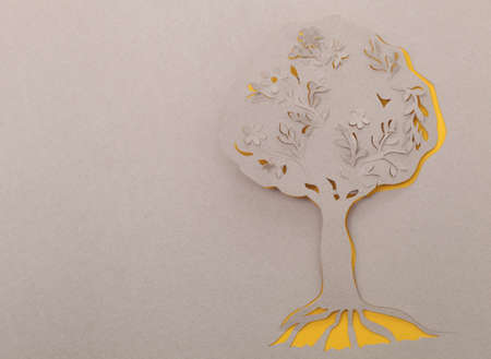 Tree origami handmade  photo