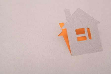Paper house Reklamní fotografie - 15447005
