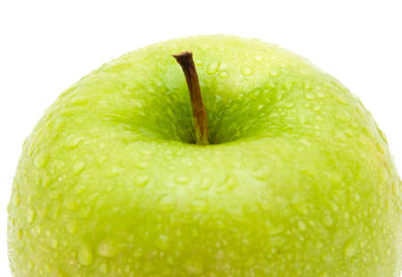 fresh green apple on white background photo