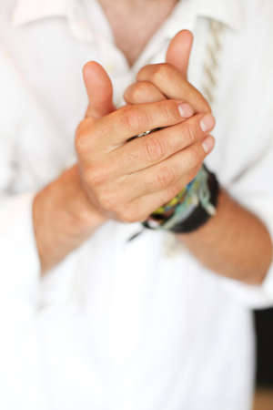 dutiful: Praying hands closeup
