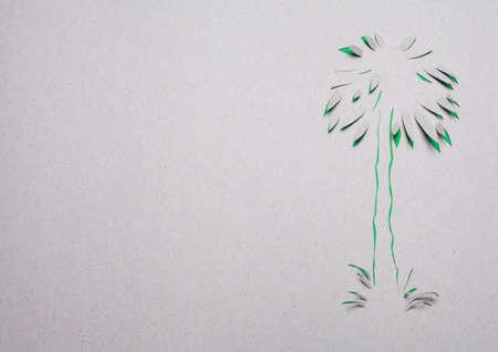 Image of abstract green tree handmade.Eco background. Stock Photo - 15918942