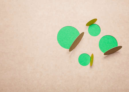 Abstract  design green bubble photo