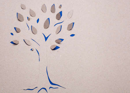 Image of abstract blue tree handmade.Eco background. Stock Photo - 15919058