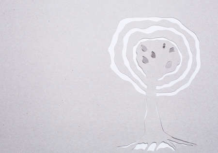 Image of abstract white tree handmade.Eco background. photo