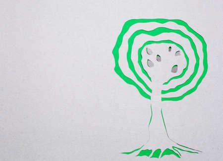 Image of abstract green tree handmade.Eco background. Stock Photo - 15919047