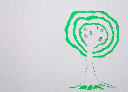 Image of abstract green tree handmade.Eco background. Stock Photo - 15919047