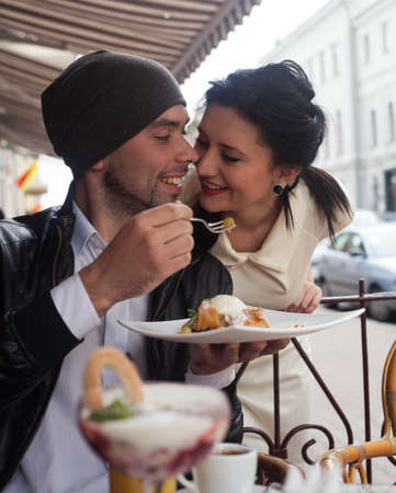 Happy Beautiful couple relaxing on the open air Stock Photo - 16636634
