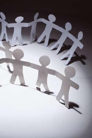 Paper team.Business concept. photo