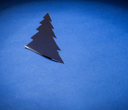 Christmas tree made of paper photo