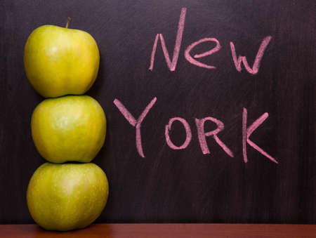 Classroom chalkboard with apples. Stock Photo - 19290029