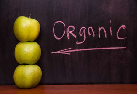 Classroom chalkboard with apples. Stock Photo - 19290027